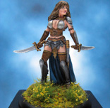 Painted Darksword Miniature Female Fighter