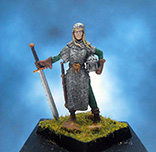 Painted Fenryll Miniature Female Knight