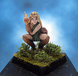 Painted Fenryll Miniature Elven Warrior