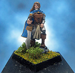 Painted Fenryll Miniature Female Fighter