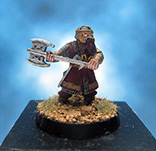 Painted Games Workshop LOTR Miniature Gimli