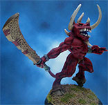 Painted Hasslefree Miniature Demon Bugharoth