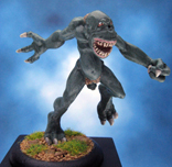 Painted Hasslefree Miniatures Aquatic Troll