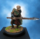Painted I-Kore Celtos Miniature Skeleton with Spear