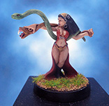 Painted I-Kore Celtos Miniature Preistess of the Horned God