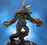 Painted IronWind Metals Miniature Giant Lizard-Man Chieftain