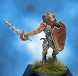 Painted Ironwind Metals Miniature Snake Totem Male Litorian Warrior