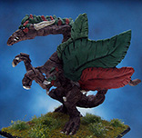 Painted Ironwind Metals Miniature Woodland Dragon