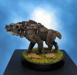 Painted Chainmail Miniature Hyena