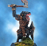 Painted Chainmail Miniature Gnoll Trooper