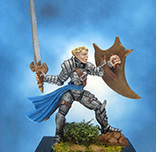 Painted Chainmail Miniature Female Paladin