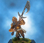 Painted Chainmail Miniature Human Glaiver