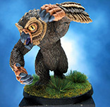 Painted Chainmail Miniature Owlbear