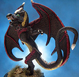 Painted Evil Dragon Miniature
