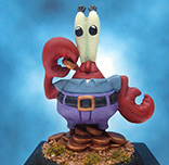 Painted Monopoly Token Mr Crabs