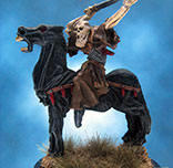 Painted RAFM Miniature Grim Reaper riding Nightmare