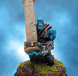 Painted Privateer Press Miniature Kriel Warrior Caber Thrower