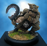 Painted Ral Partha Miniatures Crucible Orc Harvester