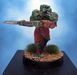 Painted Ral Partha Crucible Miniature Orc Night Axe