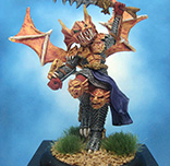 Painted Ral Partha Crucible Miniature High Elf Draconian Knight