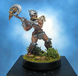 Painted Ral Partha Crucible Miniature Barbarian Infantry
