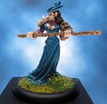 Painted Mage Knight Miniature Mending Priestess