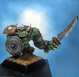 Painted Ral Partha Mage Knight Miniature Orc Slasher