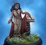 Painted Reaper Miniature Female Necromancer with Tome