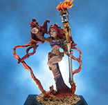Painted Reaper Miniature Pharess Fire Sorceress