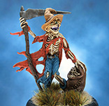 Painted ReaperBones miniature Gauntfield the Scarcrow