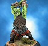 Painted Reaper Bones Miniature Giant Orc Fighter