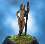 Painted Spyglass Miniature S'onne Half Elf Spirit Binder