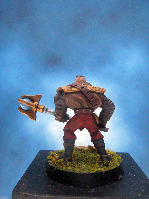 Painted Ral Partha Mage Knight Miniature Amotep Gunne